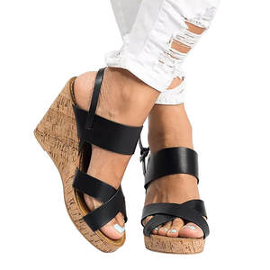 2789008ab346 YOUYEDIAN Women gladiator Sandals Strap Wedges Shoes 2018