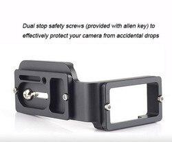FITTEST L-D750R Custom L Bracket/L Plate for Nikon D750 Body Arca-Swiss Ball head RRS Lever Clamp Compatible