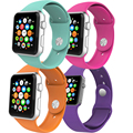 26 colores correa del silicón del deporte de múltiples colores de reemplazo correa de silicona banda de reloj de silicona para apple watch aw2ss