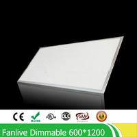 2pcs/lot 72W 600*1200MM Dimmable Led Panel Light ,high Quality Super Bright Led Panel Lamp SMD2835 Office/Home/Hotel Lighting
