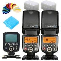 YONGNUO YN560IVx2 YN560 IV YN560 IV YN 560 IV + YN560TX YN 560TX Master Speedlite Flash Controller Speedlight For Canon Nikon