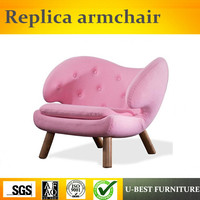 U BEST European Style Simple Leisure Wooden Single Hotel Sofa Chair, living room relaxing chair