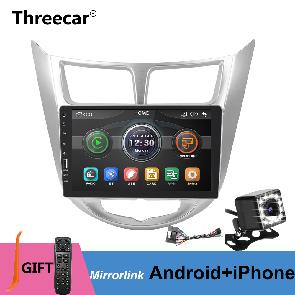 Mirrorlink Android 9.0 iPhone Bluetooth Car Multimedia MP5 Player 2DIN For Hyundai Verna Solaris 2010 2015 Car Radio No Android