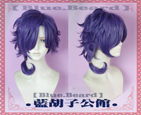 Sanrio Boys Sanrio Danshi Yuu Mizuno Purple Wig Cosplay Wig Halloween Comic Concert Role Play