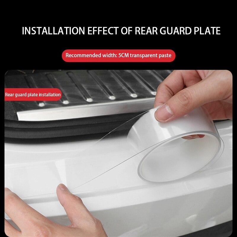 Bande Anti-collision de porte de voiture Invisible Type Transparent bord de porte Protection anti-rayures Film de carrosserie adhésif bande de Scotch de voiture