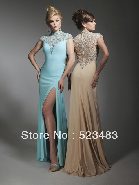 Wholesale Luxury Classy Cap sleeves Classy pink evening gowns ...