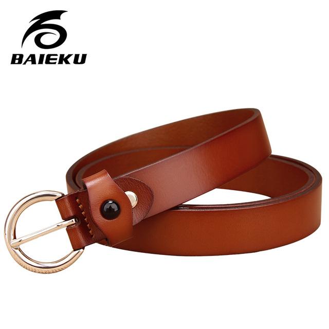 Baieku Moda estilo literario, MS semicírculo agio cinturón de cuero fino