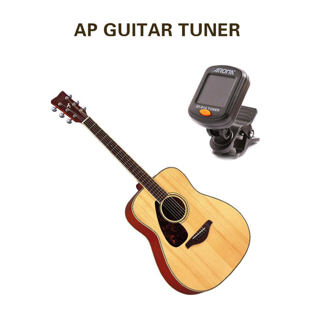 AT-101 AT-01A Digital Clip-on Electric Guitar Tuner Foldable Rotating Clip High Sensitivity Ukulele Guitar Parts & Accessories