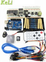 Robotale Starter Kit With UNO R3 MEGA328P 830 Holes Breadboard For Basics