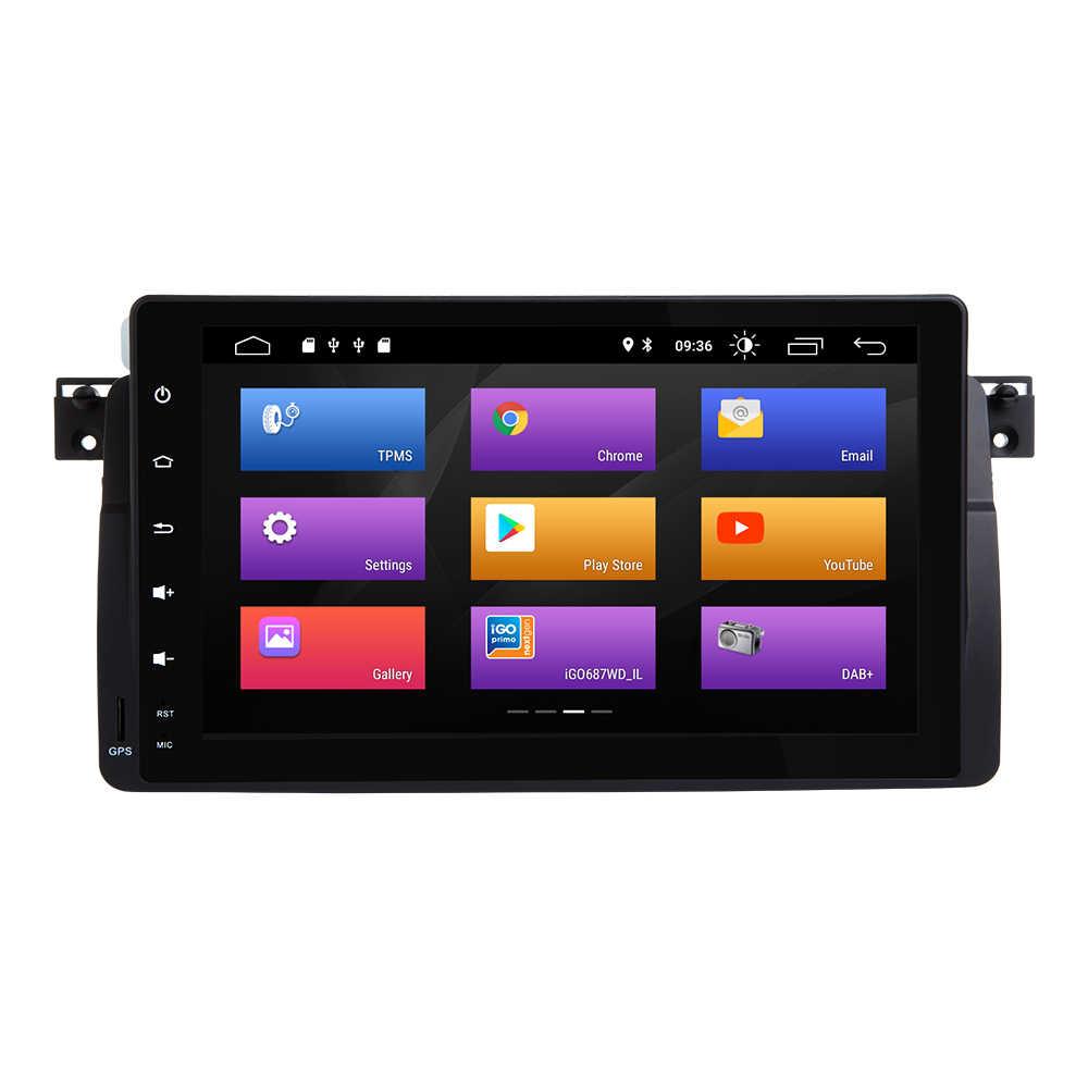 Josmile coche reproductor Multimedia 1 Din Android 9,0 para BMW E46 M3 Rover 75 Coupe navegación GPS DVD Radio de coche 318/320/325/330/335