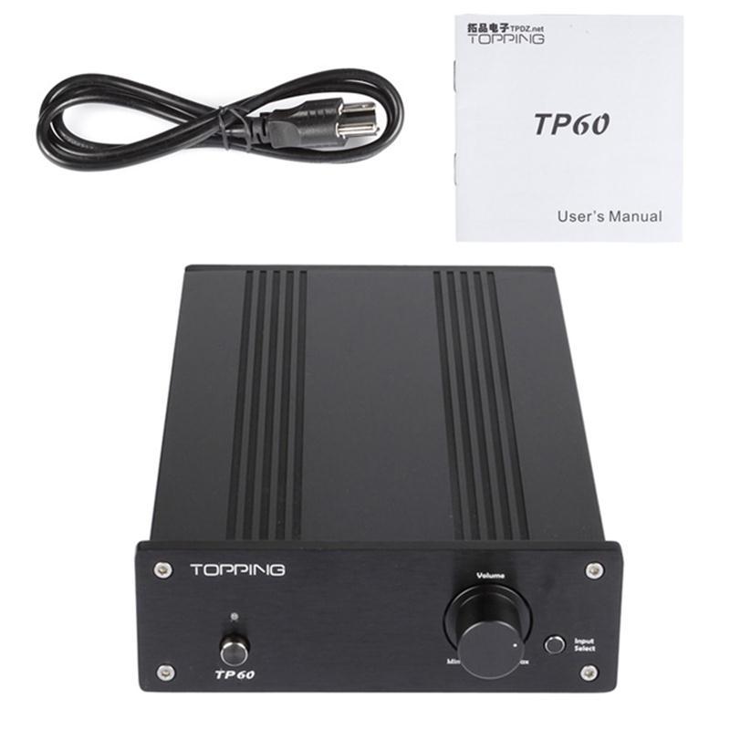 TOPPING TP60 TP-60 HIfi Audio Digital Amplifier 2*80W TA2022 Class T AMP Tripath Stereo Power 220V/110V 2 Analog RCA Inputs