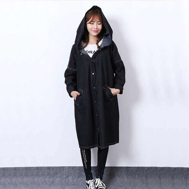new arrived spring  Coat woman Loose Fashion Casual long sleeves  All match Outerwear Women'sClothing With cap Jackets