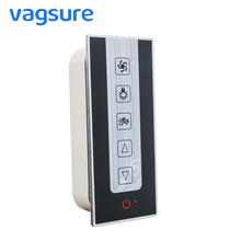 Vagsure 1Pcs Induction Button Digital Control Panel Shower FM Radio Vent Fan Speaker Light Controller Shower Cabinet Accessories