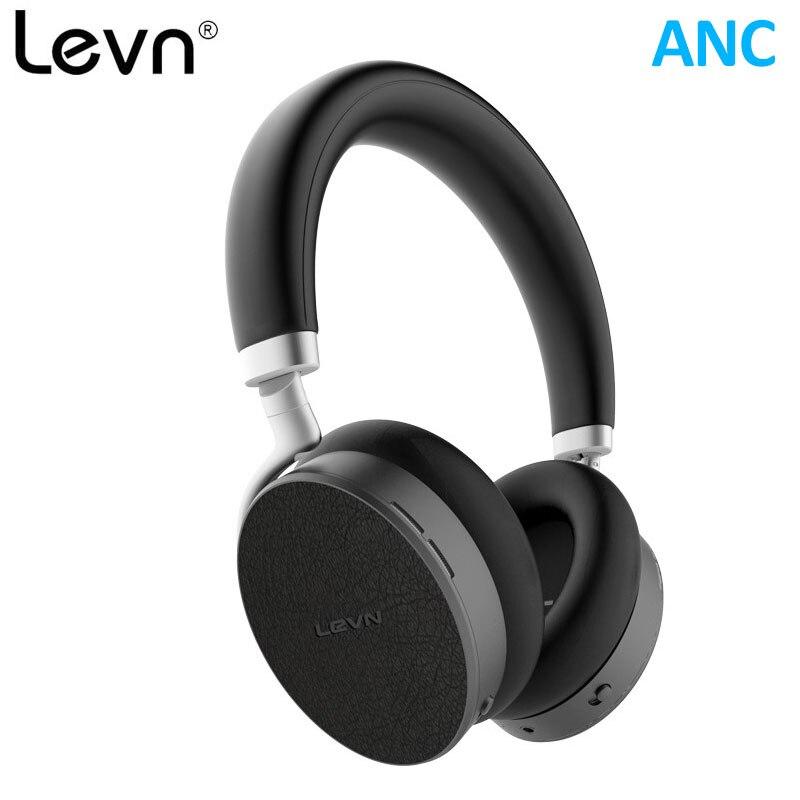 Levn ANC Bluetooth 4.2 Casque AptX Faible Latence Écouteur Sans Fil pour Avion Active Noise Cancelling Casque Grand 400 mah