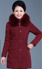 Free shipping  The new winter 2016 luxury heavy hair thickening warm down jacket coat collar