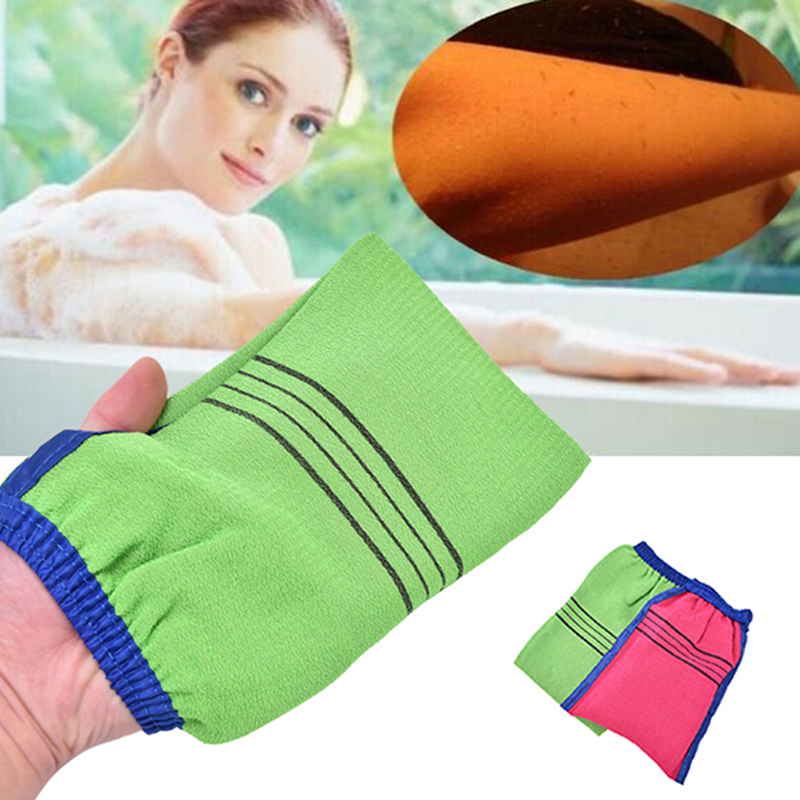 1 Pcs Korea Style Scrub Mitt Magic Peeling Glove Exfoliating Tan Removal Mitt Bath Shower Gloves 14cmx17cm