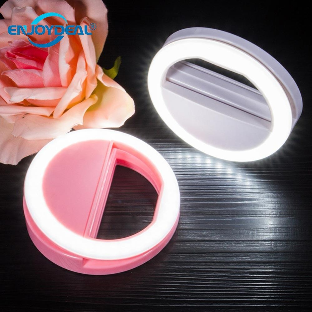 1Pc Portable Selfie Flash Light LED Ring Light Mobile Phone Beauty Makeup Selfie Clip Night Light 36 LED For Camera Photography