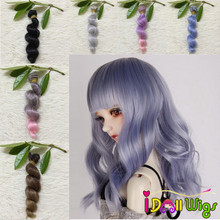 1pcs 15cm Spiral Curly Doll Hair Weft for All Dolls Handmade Wigs Extension DIY