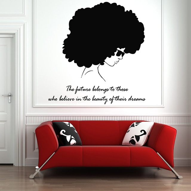 tribal african woman silhouette wall decal beauty quotes bedroom
