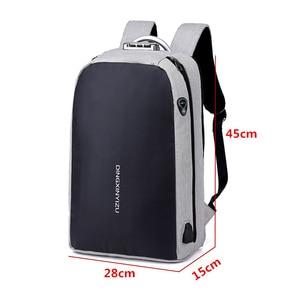 Image 5 - Shellnail حقيبة كمبيوتر محمول مقاومة للماء حقيبة السفر متعددة الوظائف مكافحة سرقة حقيبة للرجال الكمبيوتر على ظهره USB شحن لماك بوك باد