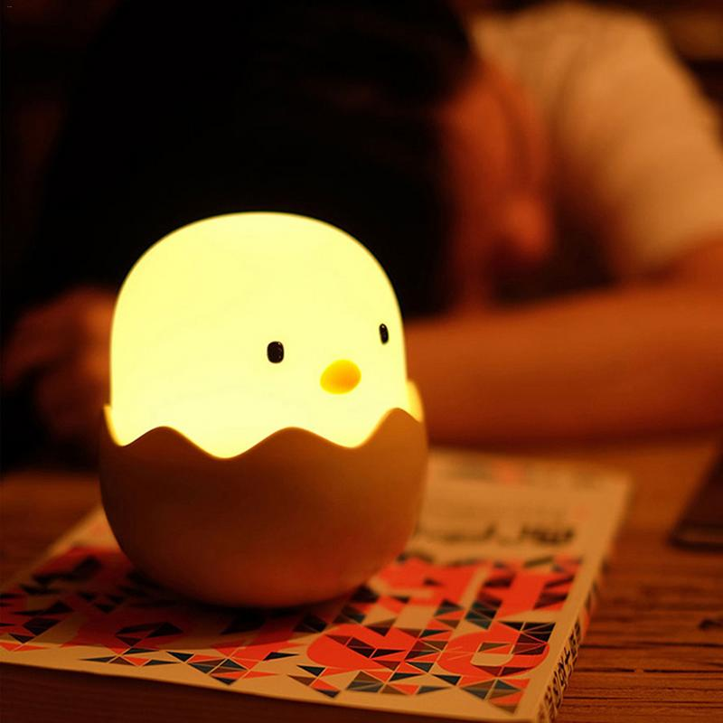 Silicone Chicken Egg Touch Sensor LED Night Light Child Baby Kids USB Charge Romantic Atmosphere Night LampSilicone Chicken Egg Touch Sensor LED Night Light Child Baby Kids USB Charge Romantic Atmosphere Night Lamp