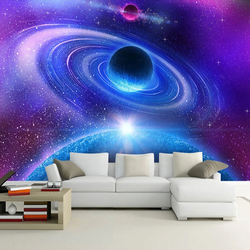 Custom 3D Mural Wall Paper For Living Room Bedroom Modern Space Moon Universe Photo Wallpaper Murals Decorative Wall Painting