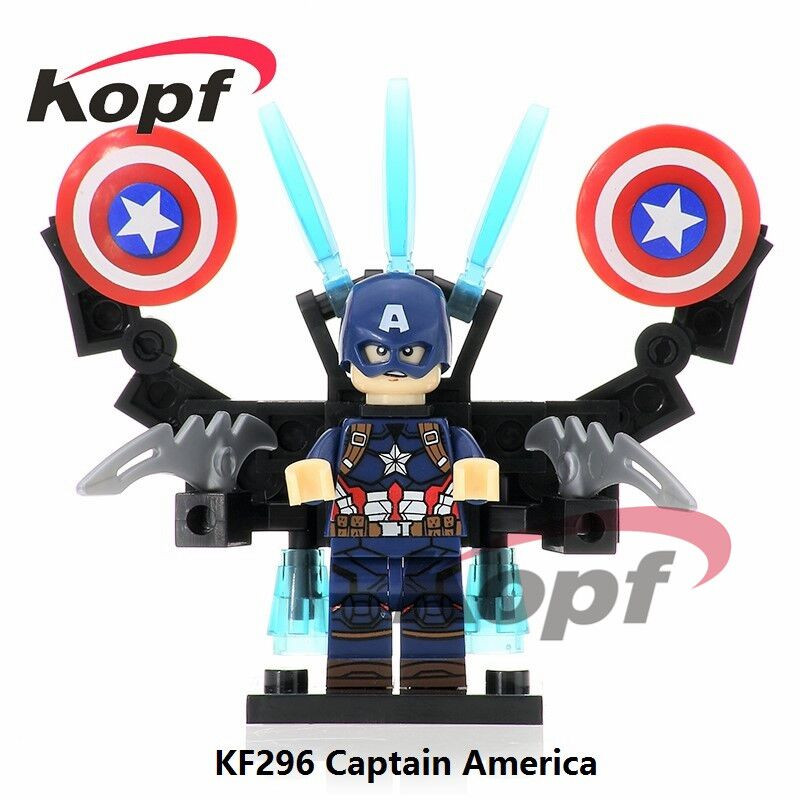 Single Sale Super Heroes Captain America (Age of Ultron Version) Bricks Collection Building Blocks Best Children Gift Toys KF296 single sale building blocks super heroes bob ross american painter the joy of painting bricks education toys children gift kf982