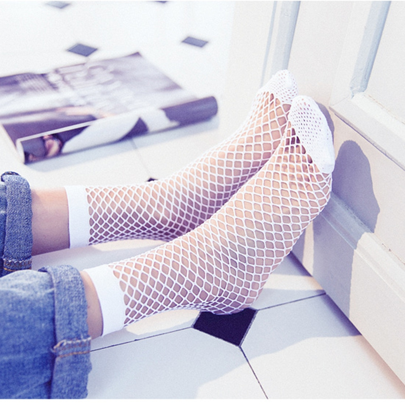 Arrival Women Fishnet Ankle High Socks Mesh Lace Fish Net Short Socks Hot