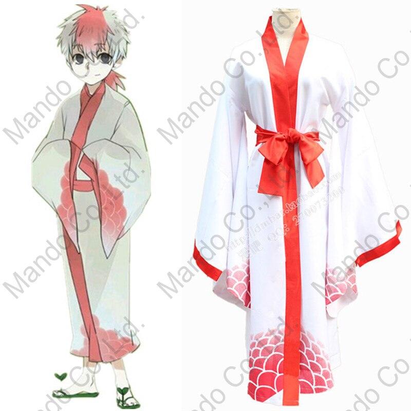 Anime Hoozuki no Reitetsu Kingyosou Cute kimono Cosplay Costumes Halloween suit japanese kimono + belt 2pcs set