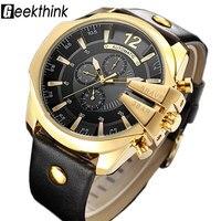 GEEKTHINK Top Luxury Brand Automatic Mechanical Watch Men S Sports Self Wind Wrist Watch Leather Strap