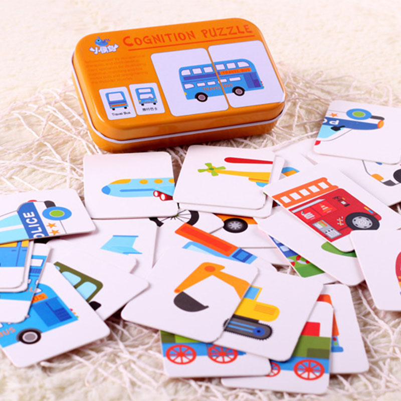 Cognitive Card Wooden Children's Fruit Early Education Aids Flash Card Animal Car Education Card Baby Enlightenment Cognition