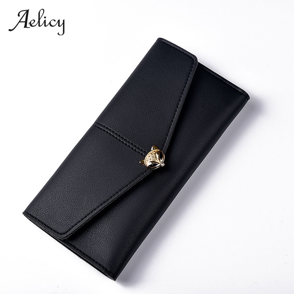Aelicy Lady Long Clutch Wallet PU leather Wallets Women Wallet Fashion Small Female Purse Long Coin Card Holder Carteira 0918