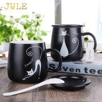 Creactive Cat Ceramic Tea Cup Personality Cartoon Milk Juice Lemon Mug Coffee Cups With Handgrip Home