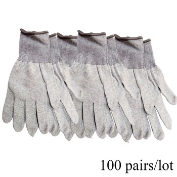 CNGZSY wholesale 100 pairs workable Static-Free Working Gloves Carbon Fiber Nylon Car Wrapping Assistive Tools 100D08