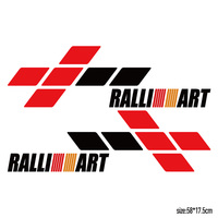1 Pair Customization RALLIART Door Stickers Decal Car Styling For Mitsubishi Asx Lancer Outlander Pajero Galant