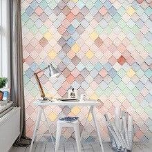 Modern minimalist Nordic Macaron wallpaper beauty nail makeup shop wallpaper dessert milk tea bakery shop silk mural wallpapers цена 2017
