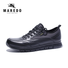 MAERDO formal shoes men casual shoes Waterproof breathable men leather shoes