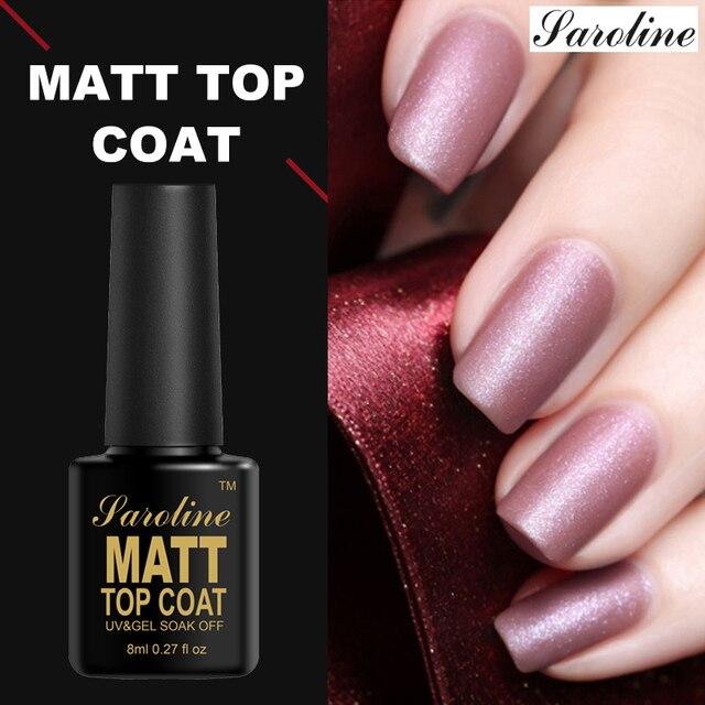 Matt Top Coat УФ гель лак для ногтей Дизайн выдерживает-полу постоянный гель Лаки матовый топ прозрачный цвет лак для ногтей