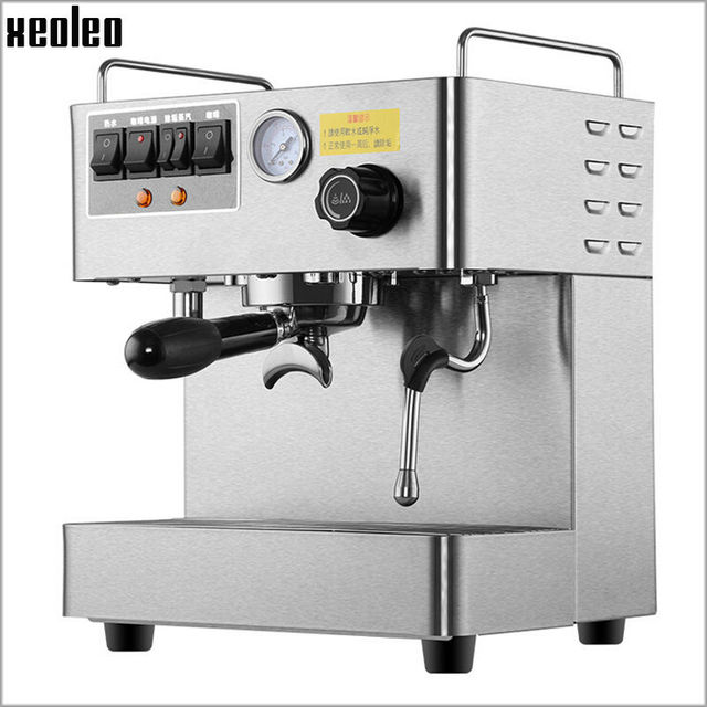 Xeoleo Commercial Espresso Machine Automatic Coffee Maker Stainless Steel 15 Bar High Pressure