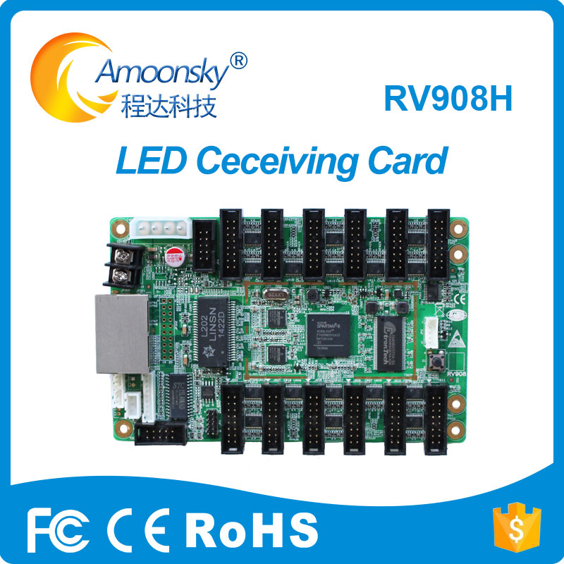 Led Receiving Card Linsn RV908H Led Outdoor Full Color Screen Matched With Ts802d Best Price