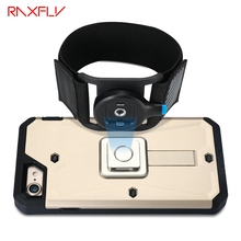 RAXFLY Running Riding Climbing Armbands Belt Clip For Mobile Phone For iPhone 7 6 6S Plus Samsung Sport Belt Arm Band