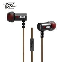 KZ ED9 Earphone Hifi HD 3D Stereo 1 2m Wired Earphone Headset Headphone Line Control For