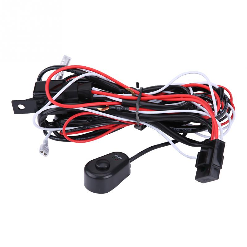 New 12v 40a Universal Fog Lamp Light Switch Control Wire