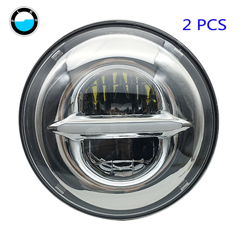 For Jeep Wrangler Led Headlight 7inch Round High Low Beam plug&play white halo head lights lamps daymaker For Lada 4x4.