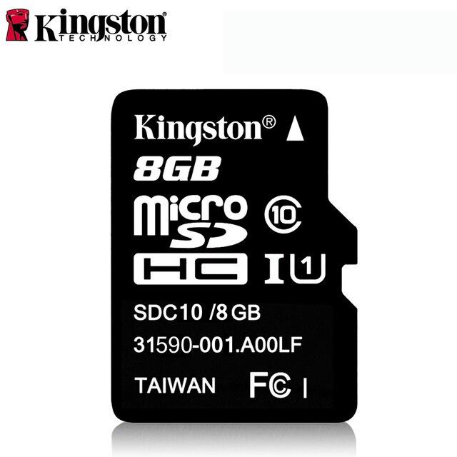 קינגסטון Class 10 מיקרו SD כרטיס 32 gb 64 gb 8 gb 16 gb Mini SD כרטיס זיכרון SDHC SDXC מיקרו SD TF כרטיס עבור מצלמה אנדרואיד SmartPhone