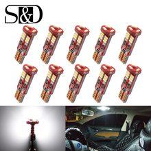 Bombillas LED Canbus para Interior de coche, luces de lectura de mapa, lámpara de matrícula de puerta, 12V, T10, W5W, 194, 168, 4014, SMD, sin errores, 10 Uds.