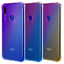 Soft TPU Full Protect Case for Xiaomi Redmi Note 6 7 5 Pro Cover Rainbow Gradient Airbag GO Phone