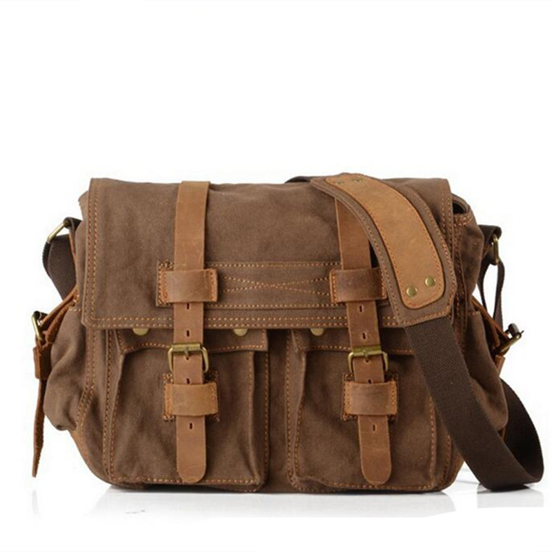 950b69707f New arrival Men Canvas Shoulder Bags Retro Postman Bag Men Women Casual  Messenger Bag on Aliexpress.com