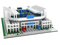 YZ Mini Blocks Architecture Model Toy Big Size Football Stadium Auction Figures Toys For Children Brinquedos