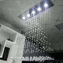 Кристалл сочетание 100*100*20 см новый современный пирамида дизайн площадь кристалла k9 gu10 led подвесной светильник для гостиная